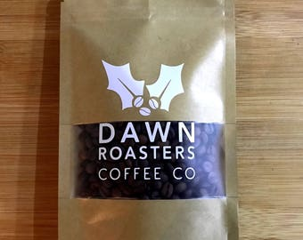 Christmas Holly Coffee Beans - Freshly Roasted Coffee Shop Style Christmas Stocking Filler! Choose whole bean, espresso or cafetiere ground