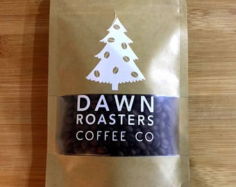Christmas Tree Coffee Beans - Freshly Roasted Coffee Shop Style - Christmas Stocking Filler! Choose whole bean, espresso or cafetiere ground