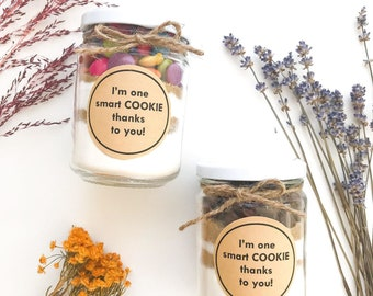 Unique Teachers Gift - DIY Cookie with playful pun label - Teacher Gift, Tutor Gift, Coach Gift, Thank you Gift