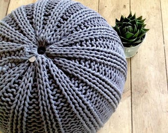 8467671f489 Mint green floor pouf ottoman knitted pouf knit pouf nursery decor