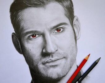 Lucifer Tom Ellis Portrait