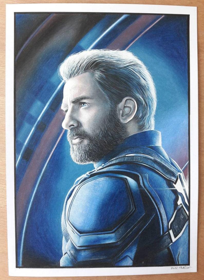 Captain America Avengers Endgame Drawing Portrait