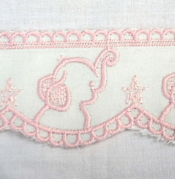 32mm Bright Coloured Ribbon Cross stitch Pattern Woven Embroidered Lace 2 Metres