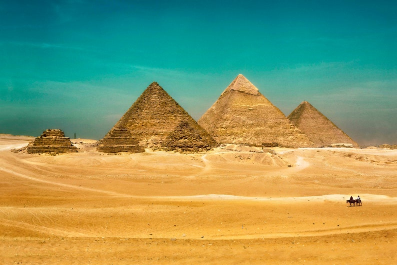 Egypt, Great Pyramid, Giza, Wonder of the World, Cairo, Large Wall Art  Print, Decor, Fine Art Photography- The Remaining Wonder