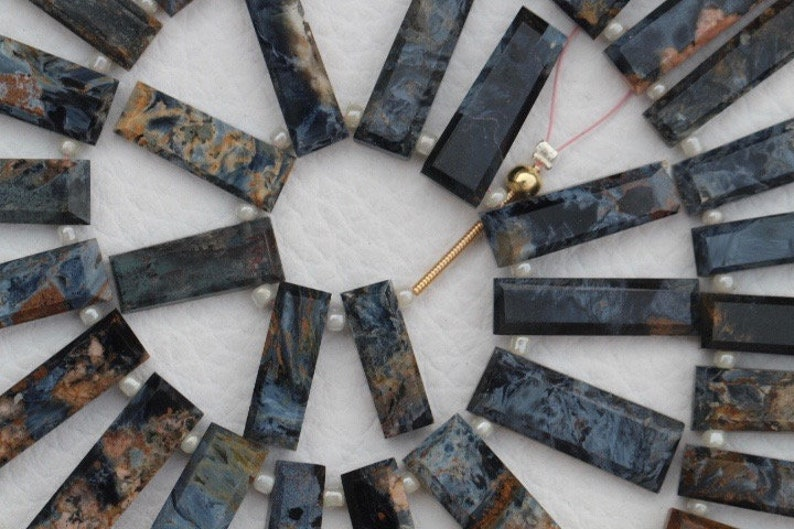 natural wholesale price rare unique Natural 33 pieces faceted PIETER SITE rectangle fancy beads 6.5 x 17 33.5 mm approx...A+ quality