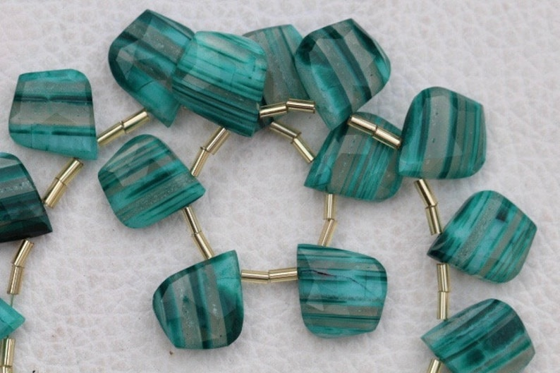 10 piece faceted fancy green OPAL leaf like briolette beads 13.5 x 16 A+ rare 14 x 17 mm approx...wholesale price custom order unique