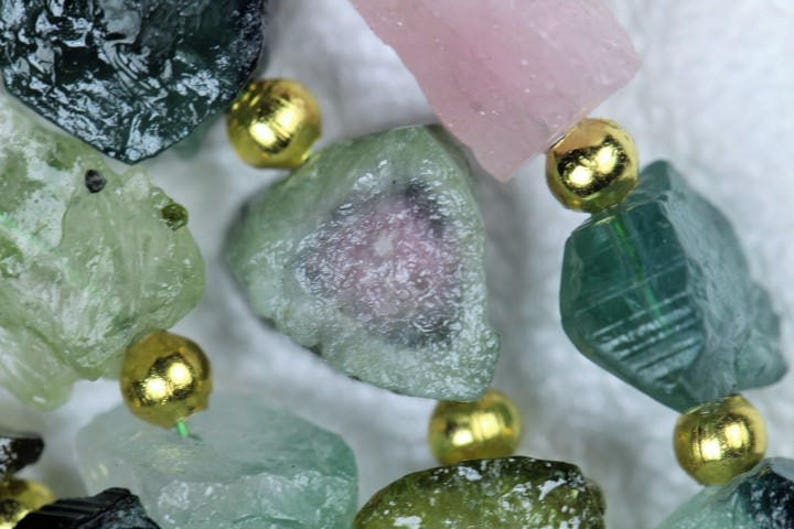 17 mm Tourmaline Multi Rough Rough Gemstone Afghani Tourmaline Multi Tourmaline AAA+ 45 Piece NATURAL TOURMALINE Raw Rough beads 7