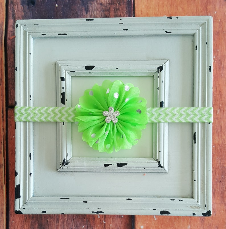 CLEARANCE Lime Green Headband-Baby Girl Headband-Infant Headband-Newborn Headband-Toddler Headband-Hair Accessories-Baby Accessories