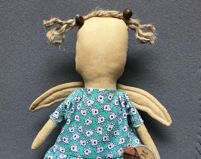 Primitive Folk Art Faceless Angel Doll Pattern, Primitive Folk Art Angel, Folk Art Doll, Primitive Doll Pattern, ePattern, Primitive Doll