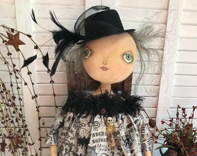 RESERVED FOR DEBBIE - Primitive Halloween Doll, Primitive Witch, Halloween Witch, Halloween Decor, Primitive Doll, Halloween Doll