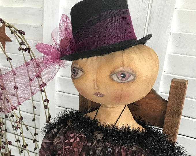 Primitive Halloween Doll, Primitive Witch, Halloween Witch, Halloween, Primitive Decor, Halloween Decor, Art Doll, Primitive Doll, Witch