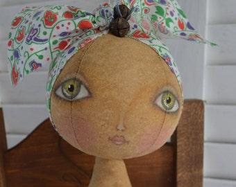Primitive Folk Art Doll Pattern - ePattern - Cheese Creek Studio Original Design