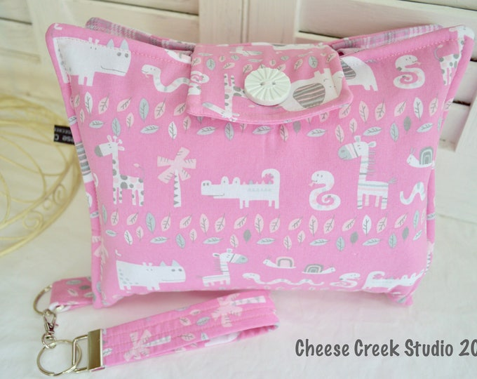 Diaper Clutch Nappy Clutch with Quilted Changing Pad