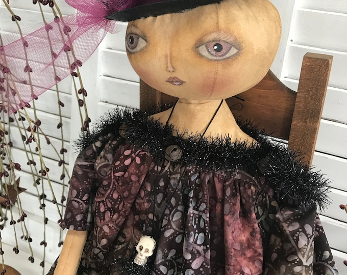 Primitive Halloween Witch, Primitive Witch, Halloween Witch, Halloween, Primitive Decor, Halloween Decor, Art Doll, Primitive Doll, Witch