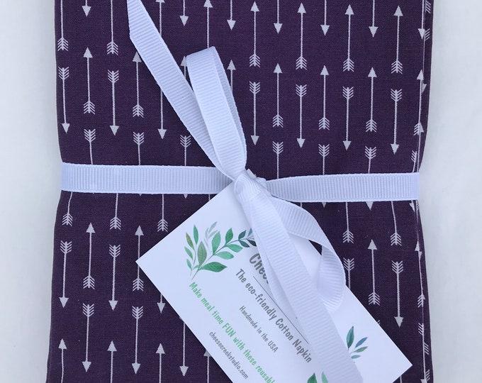 Large Cloth Cotton Napkins, Reusable Cloth Napkins, Set of 4 Cotton Napkins, Table Linens, Table Decor, eco-friendly napkins, Cotton Napkins