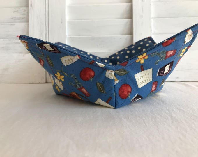 Microwavable Bowl Cozy, Reversible Bowl Cozy, Set of Two Bowl Cozies