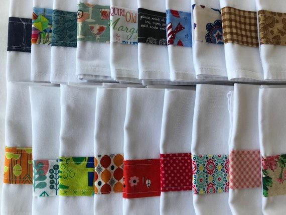 Reusable Cloth Napkins, Cotton Poly Blend Napkins, Table Linens, Table Decor Economical Reusable Cloth Napkins, Various Prints, Eclectic Mix