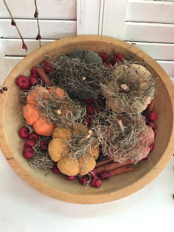 Grungy Primitive Pumpkin Bowl Fillers, Primitive Pumpkins, Grungy Pumpkins, Primitive Home Decor, Fall Decor, Pumpkin, Primitive Bowl Filler