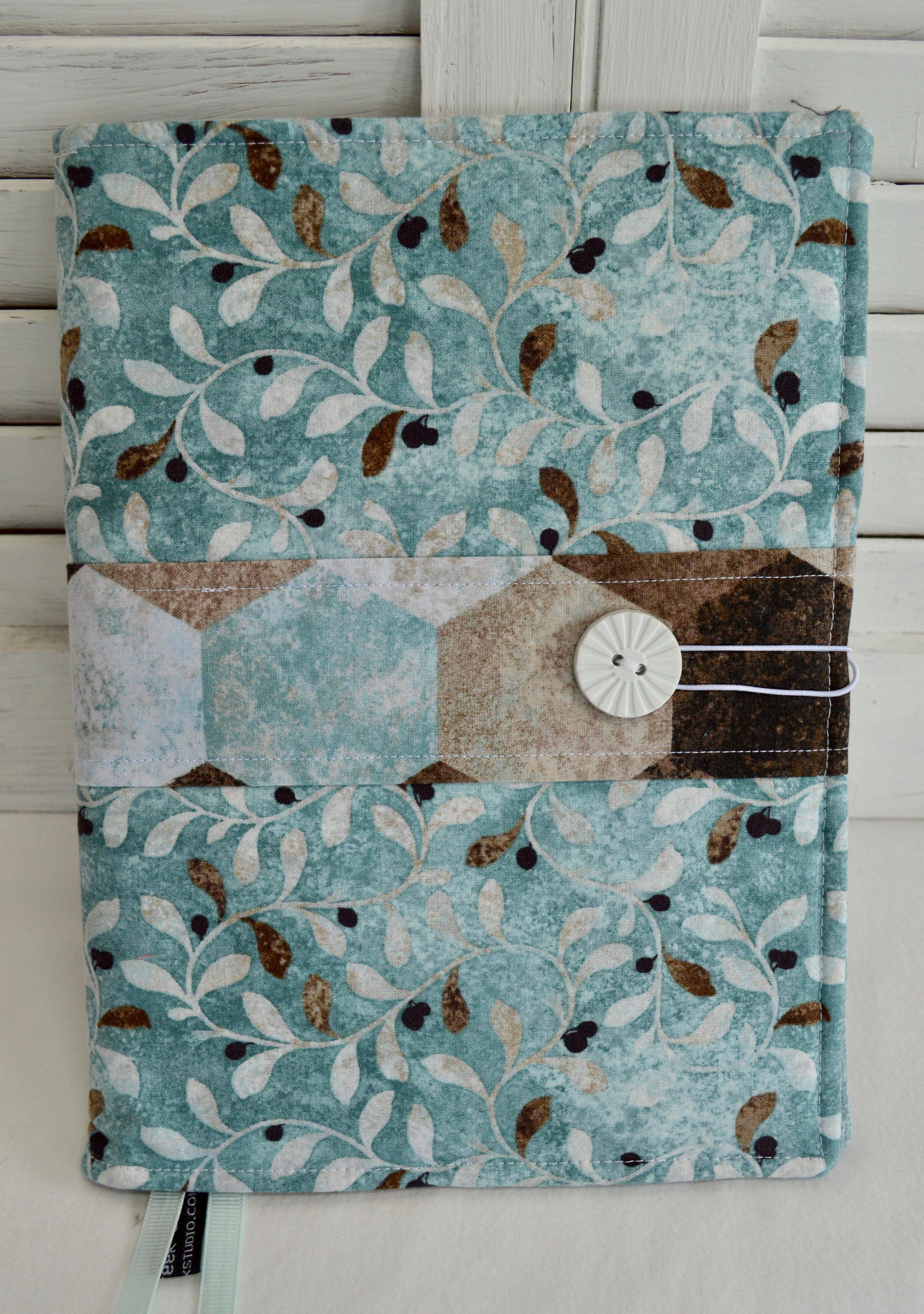 Fabric Composition Book Cover Tutorial ~ Journal cover padded fabric composition book cover