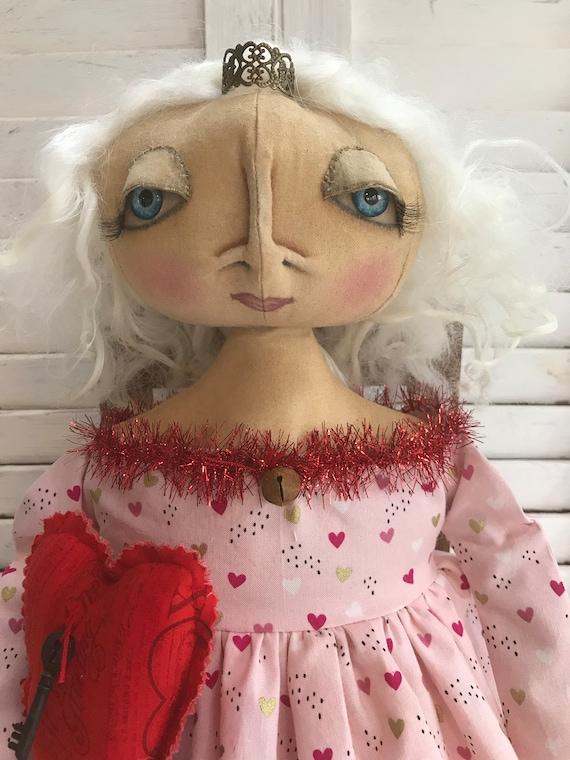 Primitive Doll, Primitive Folk Art Doll, Primitive Home Decor, Art Doll, Primitive Decor, Gift for Her, Primitive Cloth Doll, Cloth Doll
