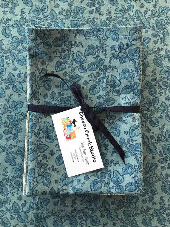 Large Cloth Cotton Napkins, Reusable Cloth Napkins, Set of Four Cotton Napkins