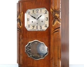 JURA Wall Clock AVE MARIA Westminster Rare Chime Antique Clock 10 Bars Art Deco France. Offered With a One Years Guarantee