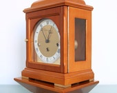 WARMINK HERMLE Top WALL or Mantel Clock Console High Gloss Dutch Germany Westminster. Offered With a One Years Guarantee