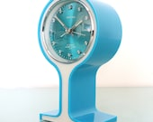 SAMSUNG ROYAL Alarm Clock Mantel Rare Vintage Pedestal Space Age ORIGINAL Box Offered with a One Years Guarantee