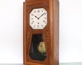 Antique VEDETTE Rare Wall Clock BROTHER JOHN Westminster Chime Antique 10 Bars Art Deco French Clock. Offered With a One Years Guarantee