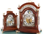 WARMINK Mantel Top Clock XL Vintage TRIPLE Chime Moonphase Clock 7 Jewels High Gloss Dutch Clock. Offered With a One Year Guarantee
