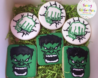 Hulk Smash Fist Sugar Cookies - 1 Dozen (12 Cookies)