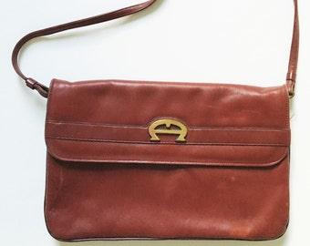 5874aee29874 Vintage 70s Etienne Aigner Leather Handbag