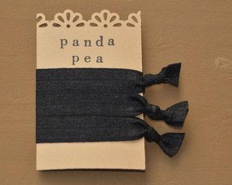 Basics 3 Pack Black by Panda Pea Hair Tie Bracelet Yoga Hair Ties No Crease Hair  Ties cfd73029315