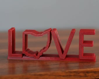 Love - State of Ohio 3D Printed
