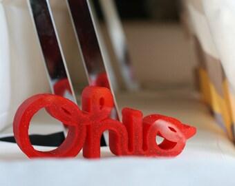 3D Printed Script Ohio