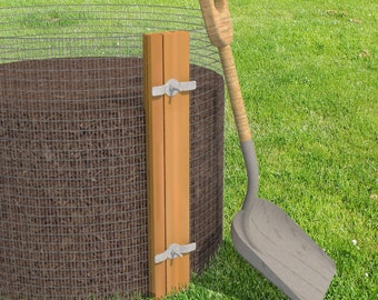 DIY Compost Bin Plans - DIY Composter Plans - Permaculture - Gift for Gardener - Sustainable Eco Friendly Gifts - Compost Container
