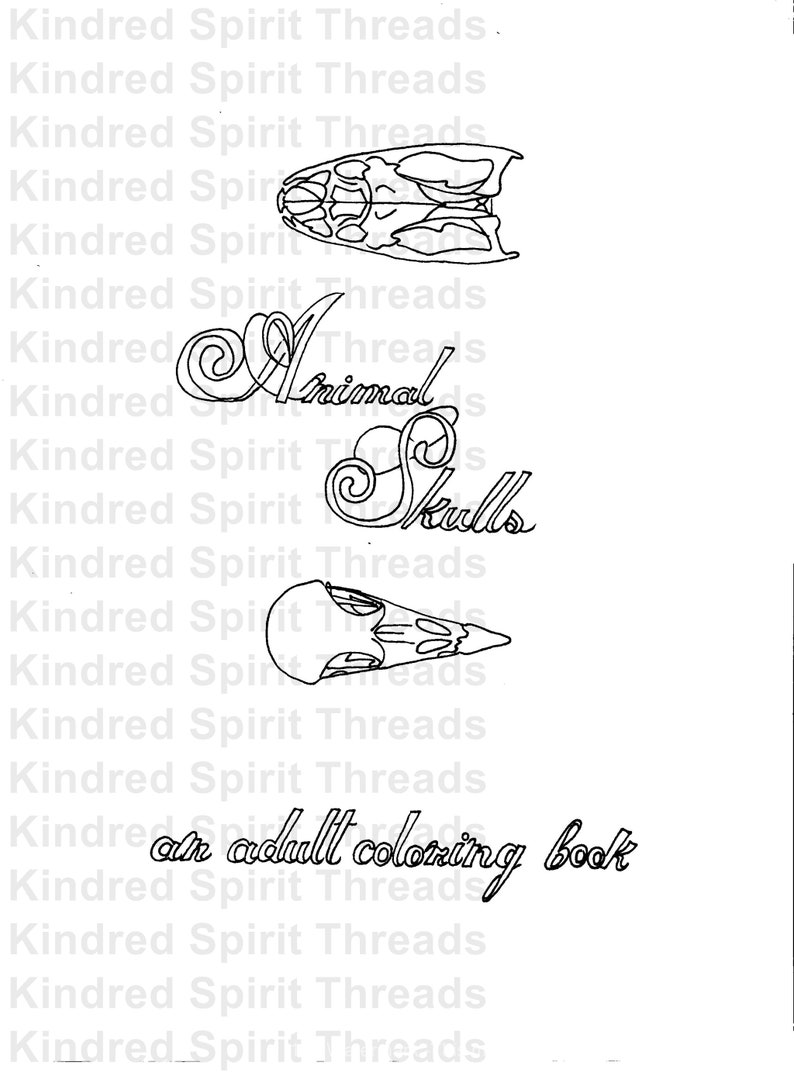 - Animal Skulls Coloring Book Adult Coloring Book Quote Etsy