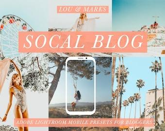 SoCal Blogger Lightroom Mobile Presets