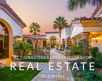 100+ HDR Real Estate Photoshop Actions & Sky Swap Overlays
