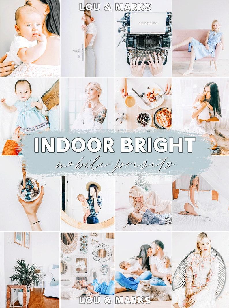 Presets for Lightroom Mobile App and Desktop Lightroom // Instagram Filters for consistent photo editing // Indoor Bright Presets photo