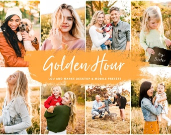 Lightroom MOBILE Presets for Fall, Insta Instagram Warm Blogger Autumn photo presets, GOLDEN HOUR Autumn warm bright dng presets