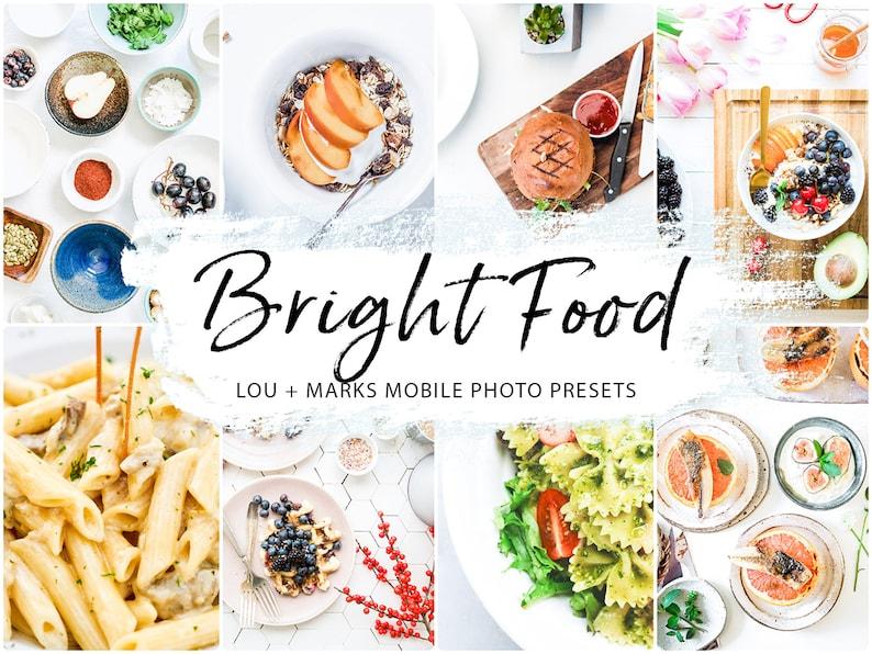 BRIGHT Food presets, Lightroom presets, blogger photo presets, mobile presets and desktop presets, instagram Filters for Lightroom Mobile photo