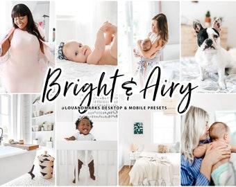 Bright Lightroom Presets for Mobile Lightroom and Desktop Lightroom AIRY LIGHT, Indoor Presets, Instagram Presets, Mobile Presets Lou Marks