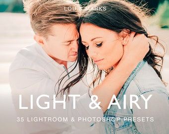 Light And Airy Presets for Lightroom & Photoshop, Presets, ACRs for Bright Portrait and Modern Wedding Edits in Adobe Lightroom Photoshop