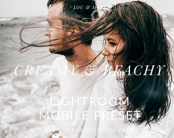 Creamy Beach Presets Mobile Lightroom Preset for Bright Portrait and Modern Wedding, Flat Lay for Modern Editing in Adobe Lightroom Mobile