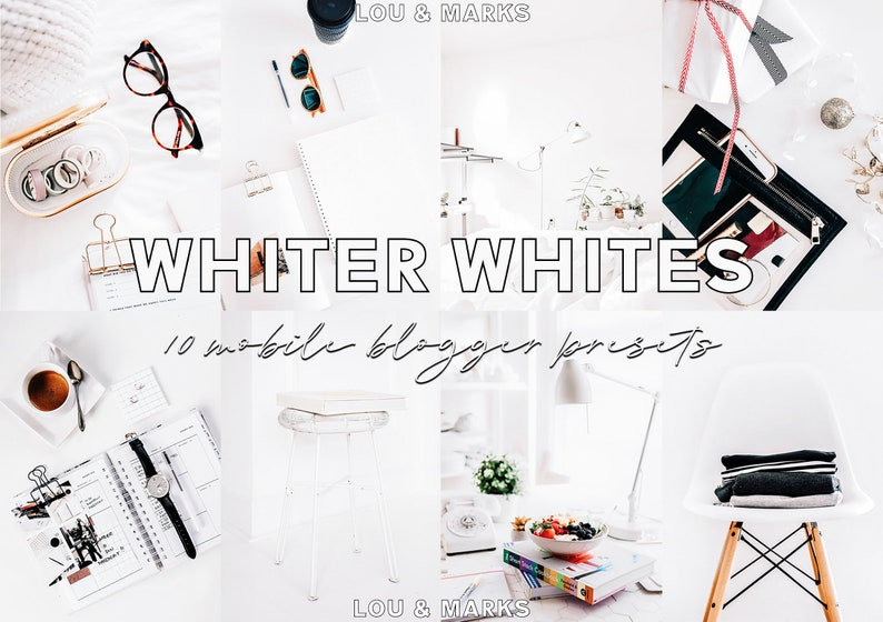 10 Whiter Whites Lightroom Presets for Mobile iPhone Android image 0