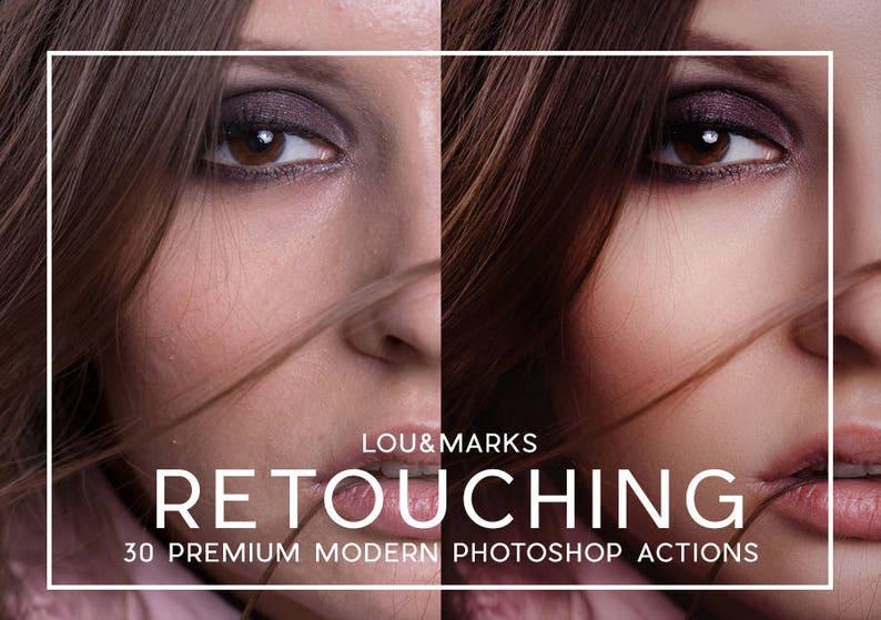30 Portrait Retouching Photoshop Actions image 0