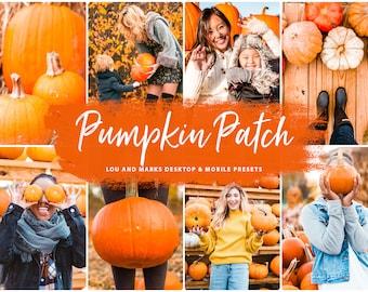 10 Mobile Lightroom Presets Lightroom, Fall presets for instagram, Autumn presets, Warm Bright presets - Pumpkin Patch Desktop Photoshop