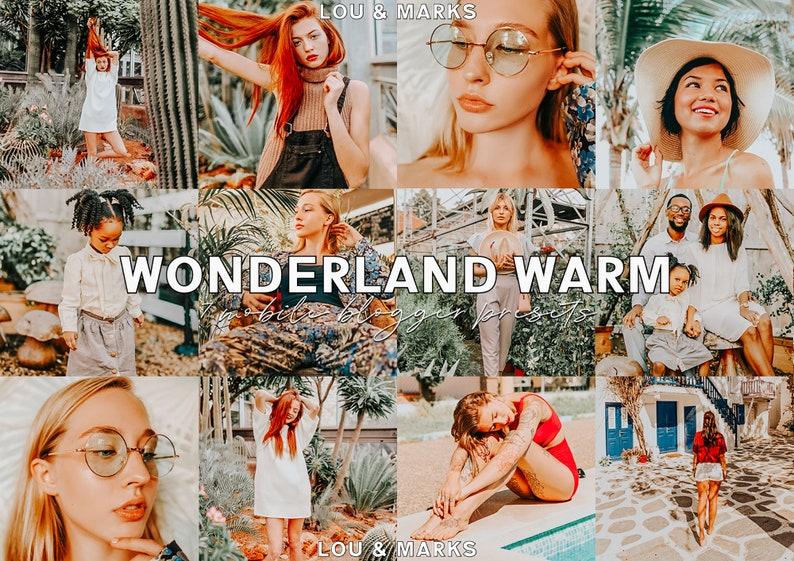 7 Lightroom Presets  Wonderland  Summer Warm Preset  soft image 0