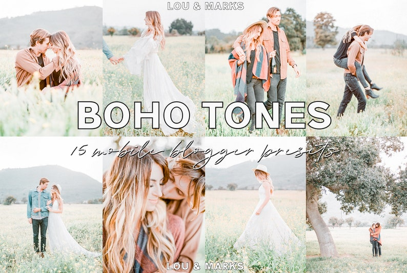 Mobile Lightroom Presets | Boho Tones | iPhone/Android Compatible | Blogger  Photo Editing | 15 DNG Presets | Instant download
